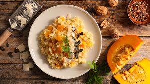 Roasted Acorn Pumpkin Risotto